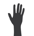 Greeting Hand Gesture silhouette vector image vector image