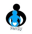 Happy family Pregnancy logo design vector image