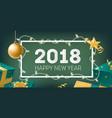happy new year elegant horizontal banner template vector image vector image