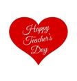 Happy Teacher s Day inside red heart vector image vector image