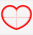 heart with a target the goal of love cupid vector image vector image
