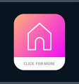 home instagram interface mobile app button vector image vector image