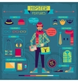 Infographic elements in retro style Hipster vector image vector image