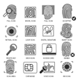 Information security icons vector image vector image
