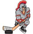 knight sports logo mascot hockey vector image vector image