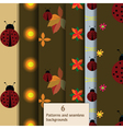 ladybug pattern set vector image