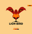 lion bird logo vector image