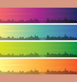 luxembourg multiple color gradient skyline banner vector image vector image
