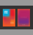 minimal design in hot color shades vector image