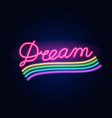 neon rainbow fashion sign night light signboard vector image