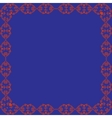 ornamental frame Blue background vector image