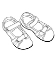 Outline Climbing Sandals vector image vector image