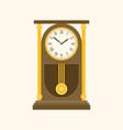 pendulum wooden retro clock vector image vector image