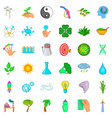 planet icons set cartoon style vector image vector image