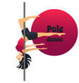 pole dancer in cartoon style vector image