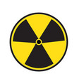 radiation symbol of activity on white background vector image