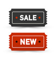 sale and new tickets - business labels set paper vector image vector image
