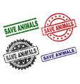 Scratched textured save animals seal stamps