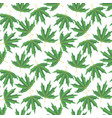seamless pattern with drawing leaves vector image vector image