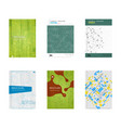 set of book cover designs vector image vector image