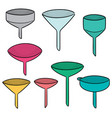 set of funnels vector image vector image