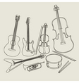 Set of musical instruments vector | Price: 1 Credit (USD $1)