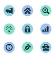 set of simple business icons vector image vector image