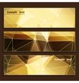 Set of three modern banners vector image vector image