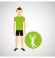 sport man concept gymnastic still rings icon vector image