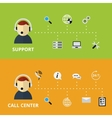 Support and Call Center Concept vector image vector image