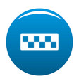 taxi cab icon blue vector image