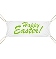 Textile Banner with Happy Easter Text vector image vector image