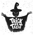 trick or treat scarecrow on white background vector image vector image