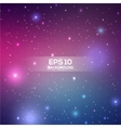 Universe space beautiful background great for your vector image vector image