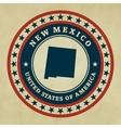 Vintage label New Mexico vector image