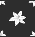 white flower on a gray background vector image