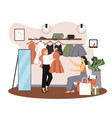 women clothing store flat style design vector image