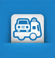 wrecker icon vector image