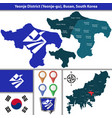 yeonje district busan city south korea vector image vector image