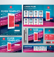 Set of Stationery Design Templates Flyer Booklet vector image