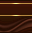 abstract background chocolate wave silk texture vector image vector image