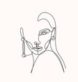 abstract portrait young pretty woman vector image