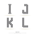 Alphabet set block style vector image