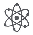 atom structure glyph icon scientific and nuclear vector image vector image