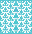 background pattern with man figure meditating vector image vector image