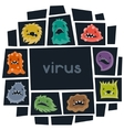 Background with little angry viruses and monsters vector image vector image