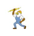 Bald Eagle Electrician Lightning Bolt Standing vector image vector image