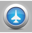 blue metal button with fighter vector image