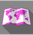 bright color map vector image vector image