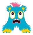 cartoon capital letter a from monster alphabet vector image vector image
